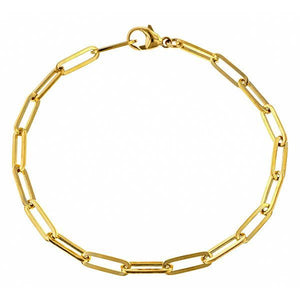 Trombone Link Bracelet sold by Doyle & Doyle an antique & vintage jewelry store.