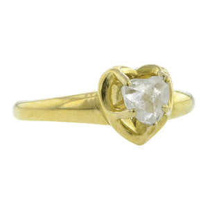 Natural Heart Shaped Diamond Crystal Ring- Heirloom by Doyle & Doyle::