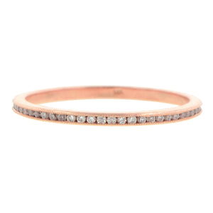 Diamond Eternity Band, 0.25ctw. Pink Gold