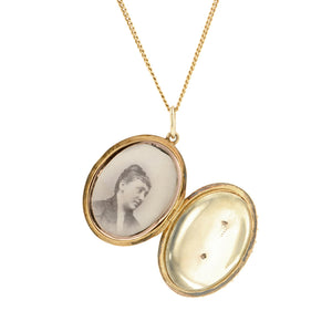 Antique Oval Locket:: Doyle & Doyle