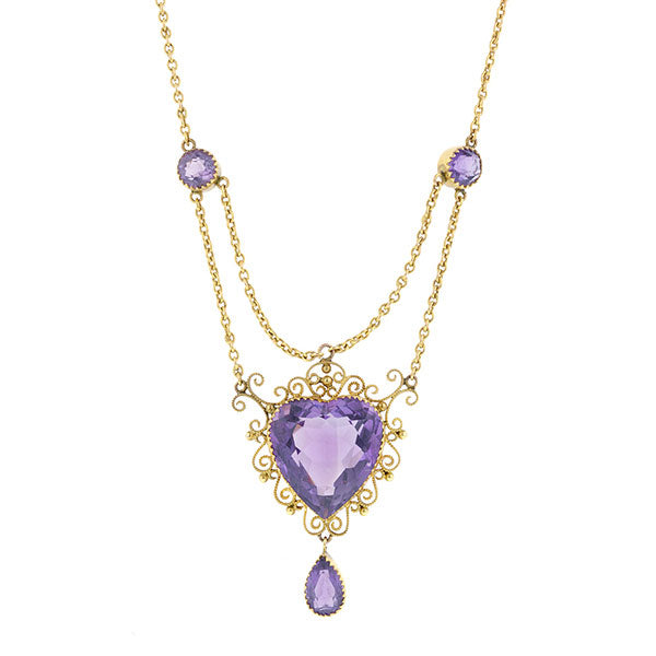 Vintage Amethyst Festoon Necklace Doyle & Doyle