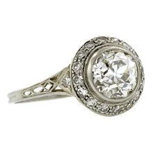 Edwardian Engagement Ring, Old European cut 1.35ct