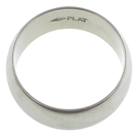 8mm Platinum Half Round Band Size 9 :: Doyle & Doyle