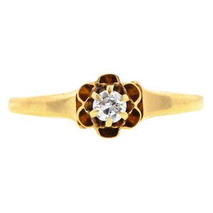 Victorian Solitaire Diamond Ring, Old Euro 0.15ct: Doyle & Doyle