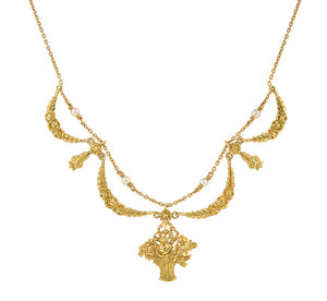 Belle Epoch Festoon & Flower Basket Necklace:: Doyle & Doyle