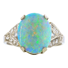 Art Deco Opal & Diamond Ring:: Doyle & Doyle