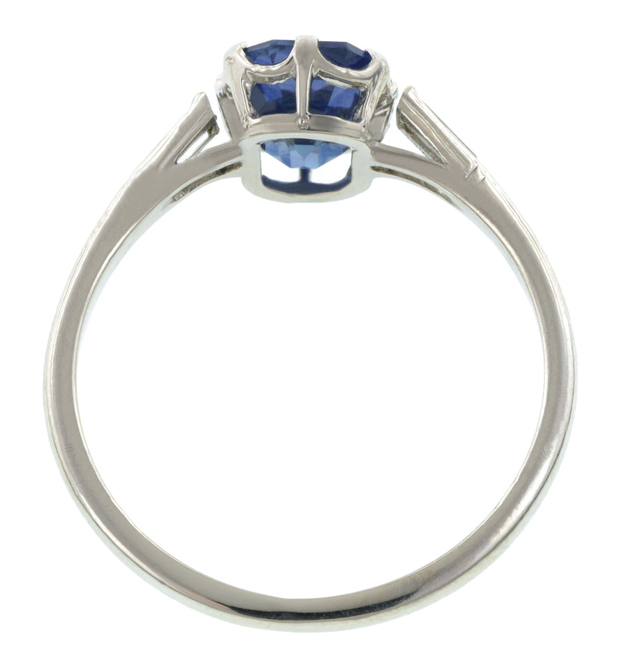 Vintage Sapphire & Diamond Ring, Emerald cut 2.05ct:: Doyle & Doyle