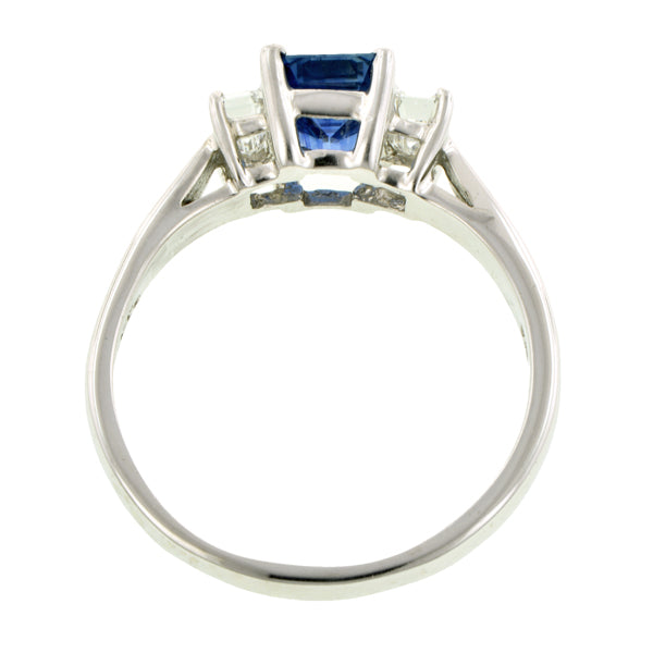 Estate Sapphire & Diamond Ring::Doyle & Doyle