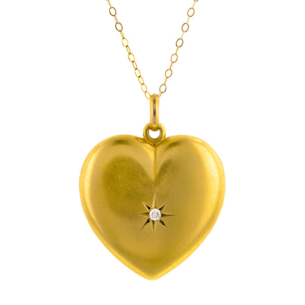 Antique Diamond Heart Locket:: Doyle & Doyle