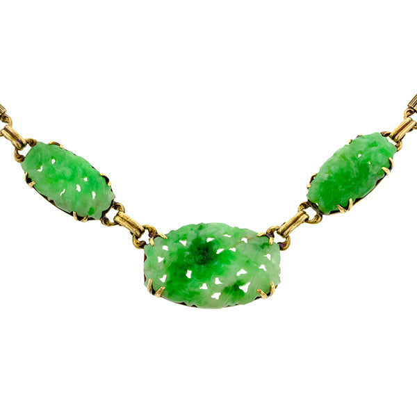 Art Deco Jade Necklace