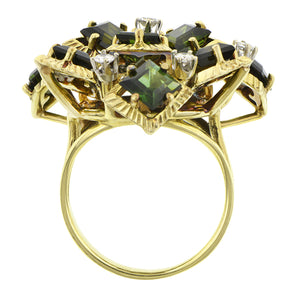 Vintage Tourmaline & Diamond Ring