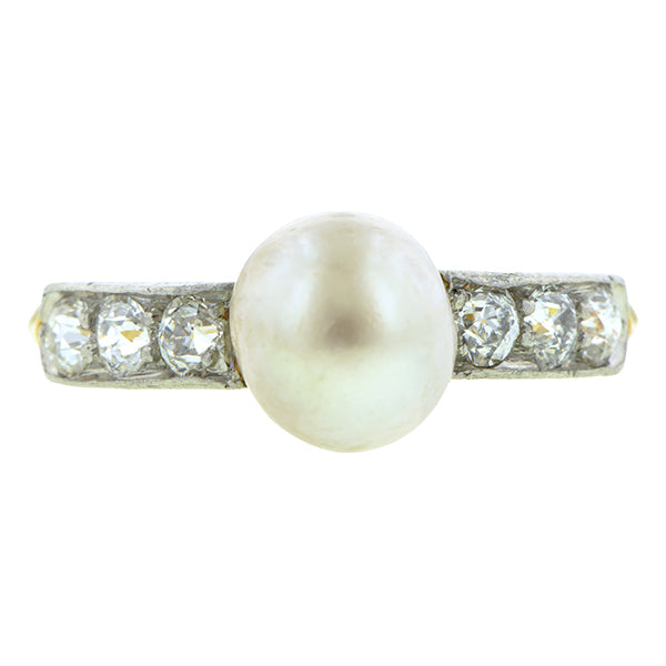 Edwardian Pearl Diamond Ring