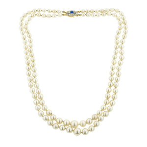 Antique Pearl Double Strand Necklace:: Doyle & Doyle