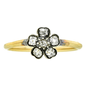 Antique Diamond Flower Ring 0.35ctw