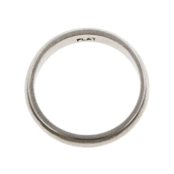 Estate Half Round Wedding Band Doyle & Doyle