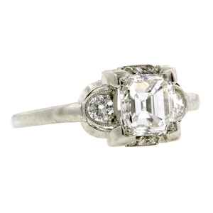 Vintage Engagement Ring, Emerald cut 1.02ct Doyle & Doyle