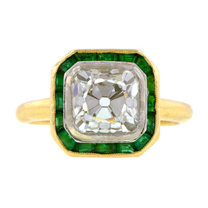 Emerald Frame Engagement Ring