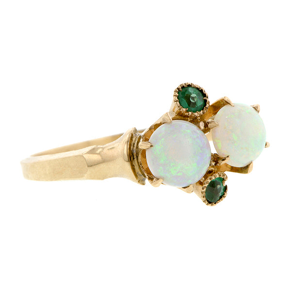 Victorian Opal & Tourmaline Ring
