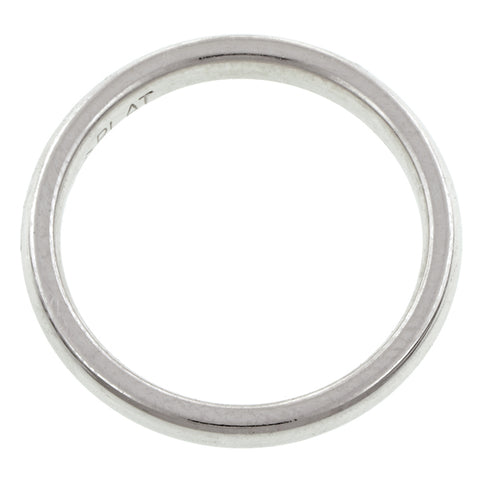 Comfort Fit Wedding Band Ring, 2.5mm Platinum