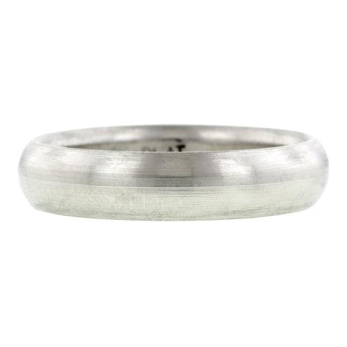 Comfort Fit Wedding Band Ring, 5mm Platinum