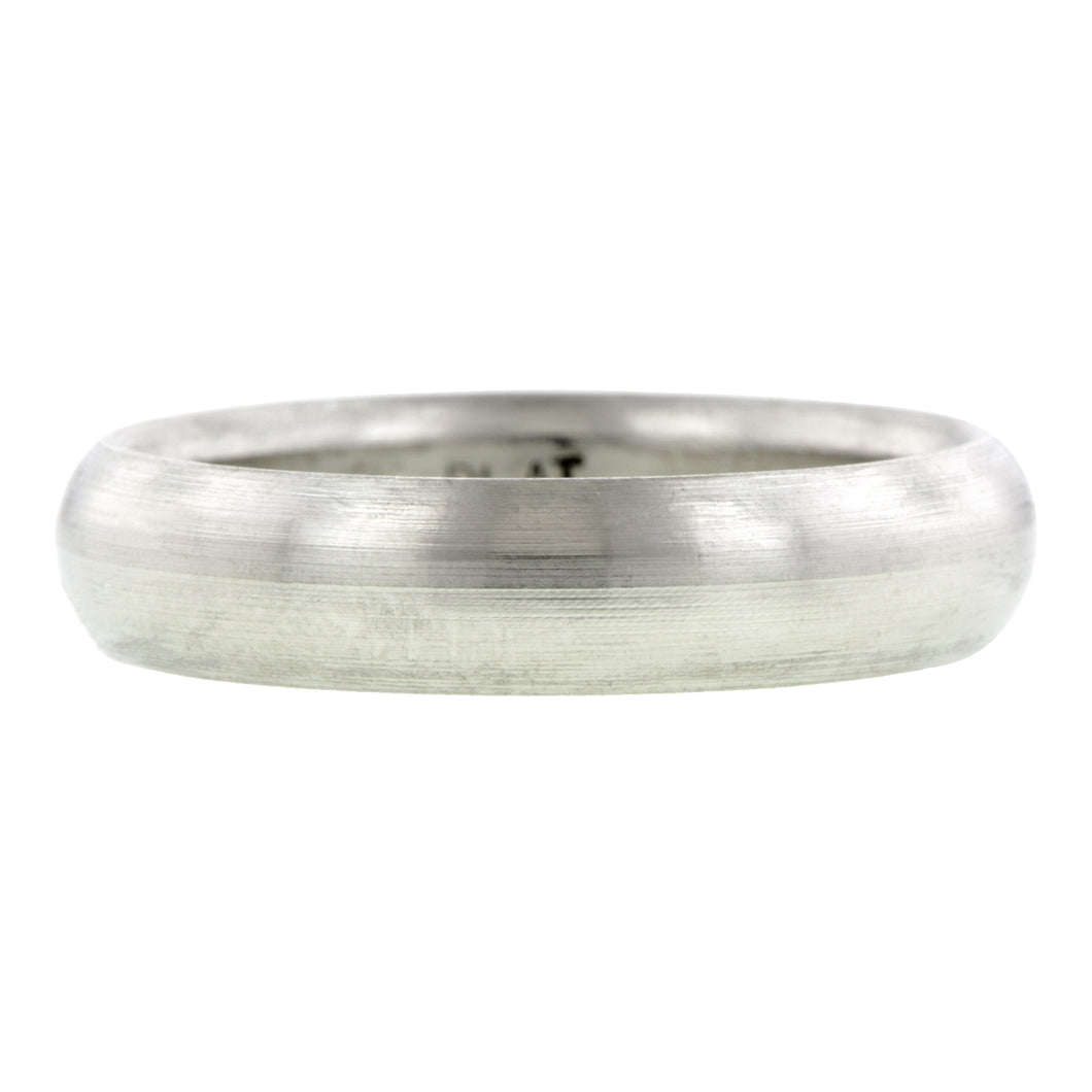 Contemporary ring: a Platinum Comfort Fit Wedding Band Ring, 5mm sold by Doyle & Doyle vintage and antique jewelry boutique.