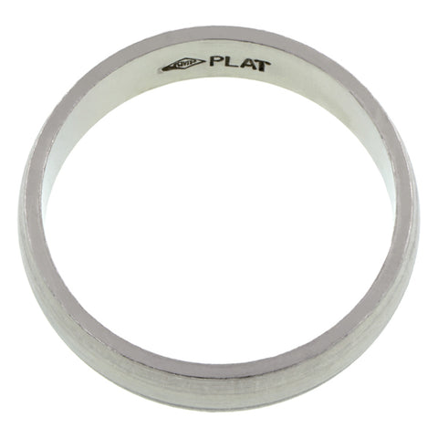 5mm Platinum Half Round Band