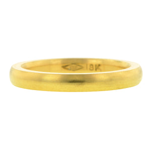 Comfort Fit Wedding Band Ring, 2.5mm 18ky