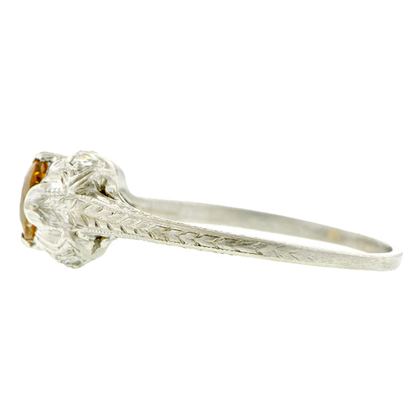 Art Deco Citrine Ring::Doyle & Doyle