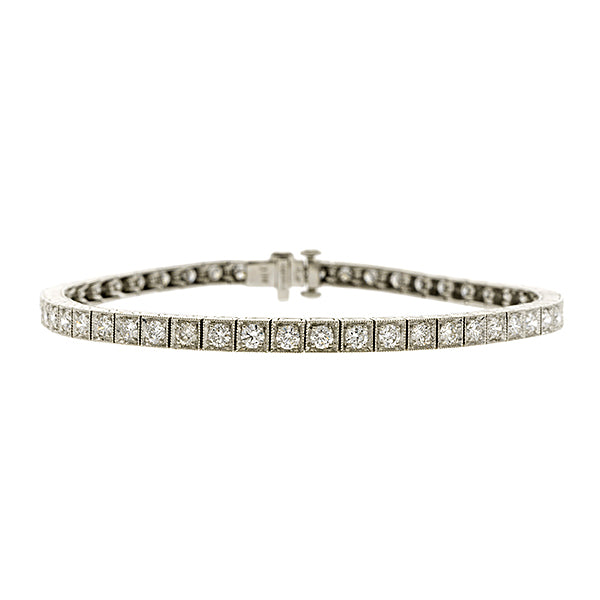 Straight Line Diamond Bracelet