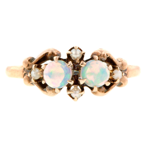 Victorian Opal & Pearl Ring