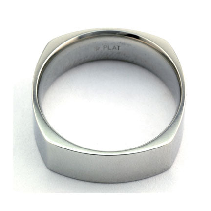Square Platinum Wedding Band :: Doyle & Doyle