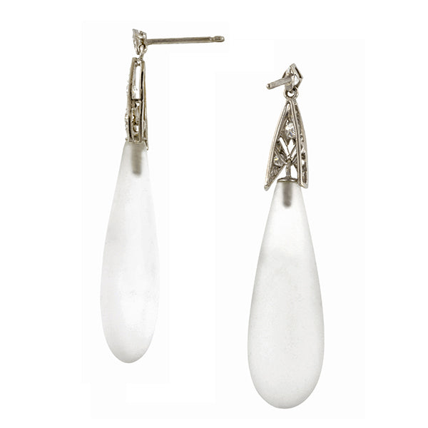 Rock Crystal & Diamond Earrings