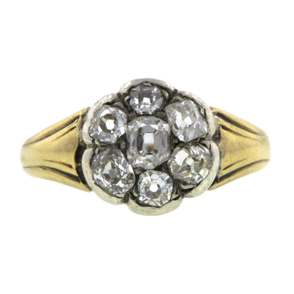 Victorian Diamond Cluster Ring, Old Mine 0.20ct