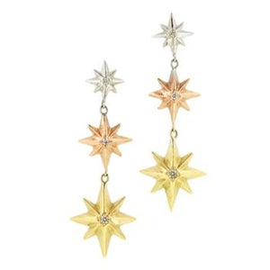 Diamond Star Drop Earrings- Heirloom by Doyle & Doyle