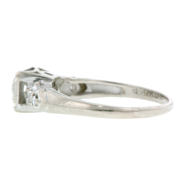 Vintage Engagement Ring, RBC 0.16ct
