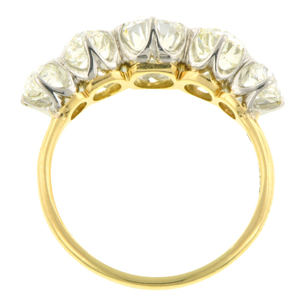 Victorian Diamond Five Stone Ring, Old Euro 0.77ct::Doyle & Doyle