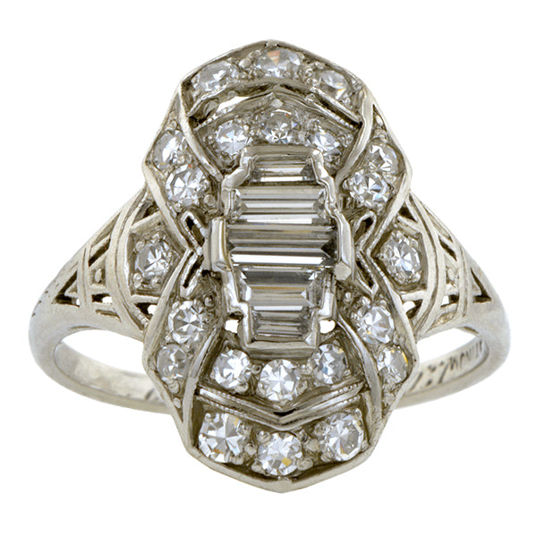 Vintage Diamond Dinner Ring:: Doyle & Doyle