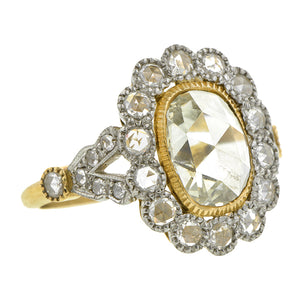 Estate Diamond Engagement Ring, Oval Rose; 0.62ct:: Doyle & Doyle