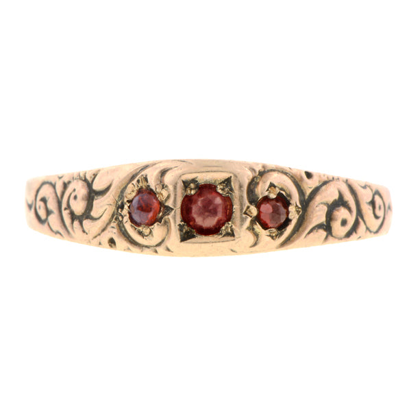 Victorian Garnet Ring/Band:: Doyle & Doyle