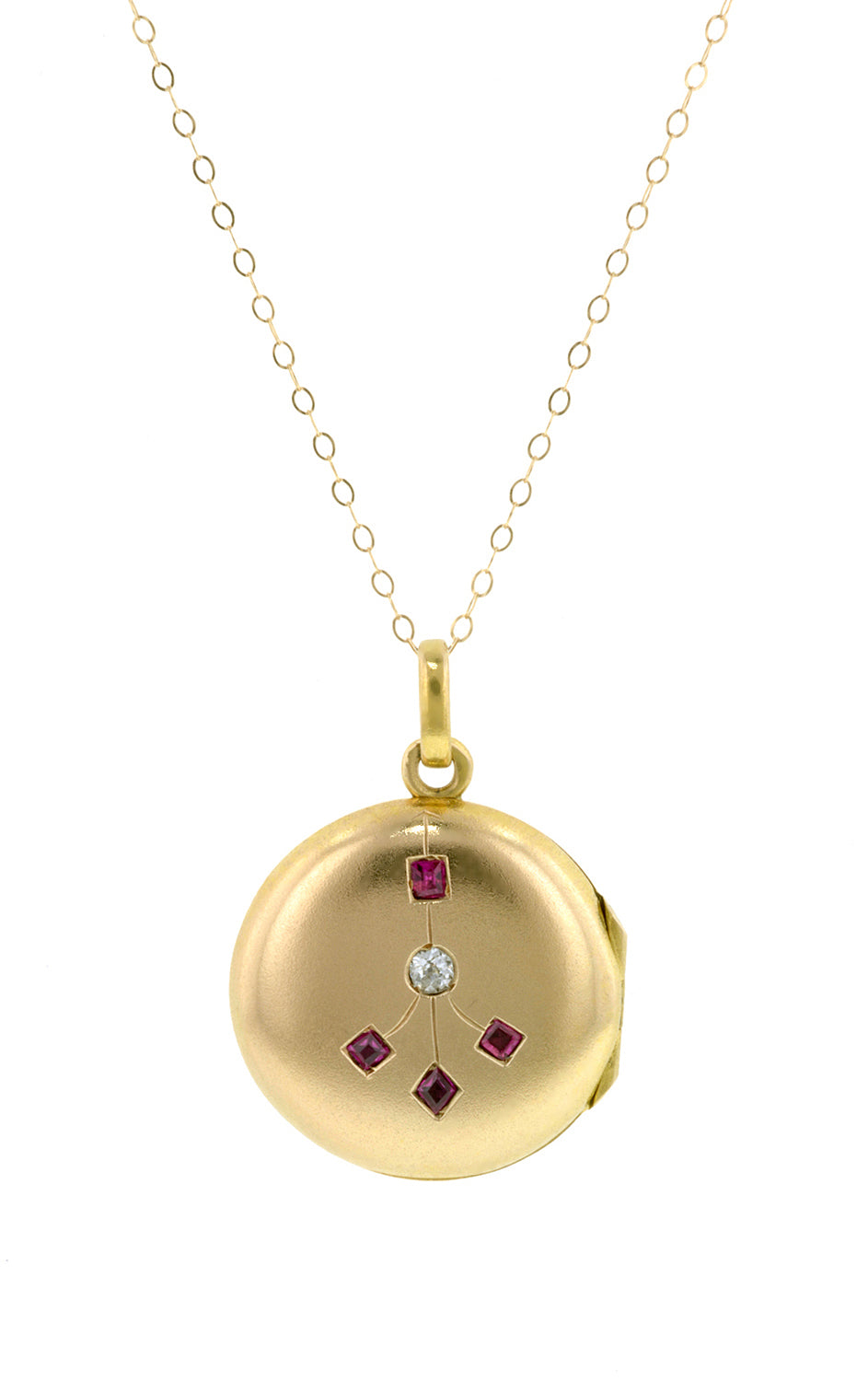 Antique Ruby & Diamond Locket