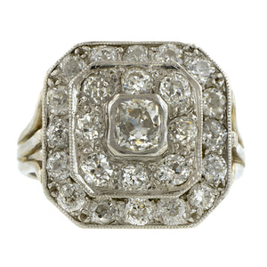 Art Deco Diamond Dinner Ring, Old Mine 0.40ct : Doyle & Doyle