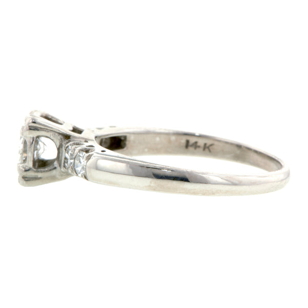 Vintage Engagement Ring, RBC 0.15ct: