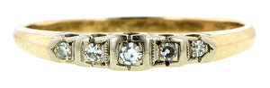 Five Diamond Two Toned Wedding Band :: Doyle & Doyle
