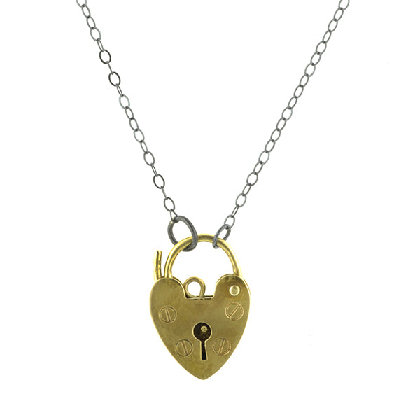 Vintage Heart Padlock Necklace:: Doyle & Doyle