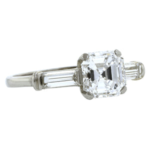 Vintage Engagement Ring, Asscher cut 1.02ct
