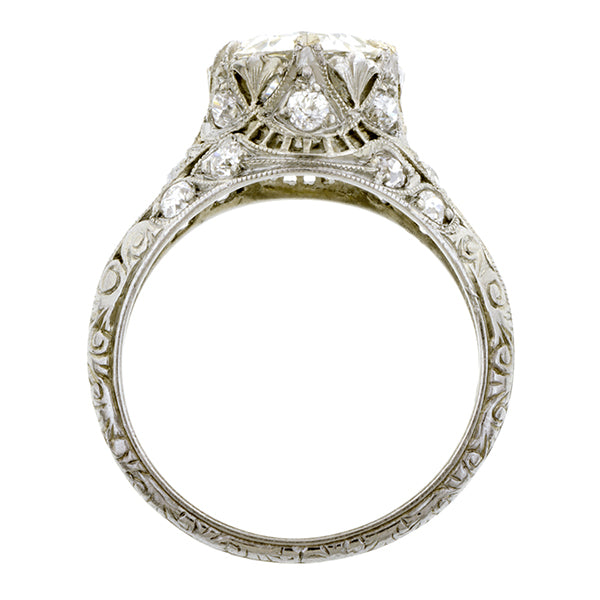 Art Deco Diamond Engagement Ring, Jubilee cut 2.17ct:: Doyle and Doyle