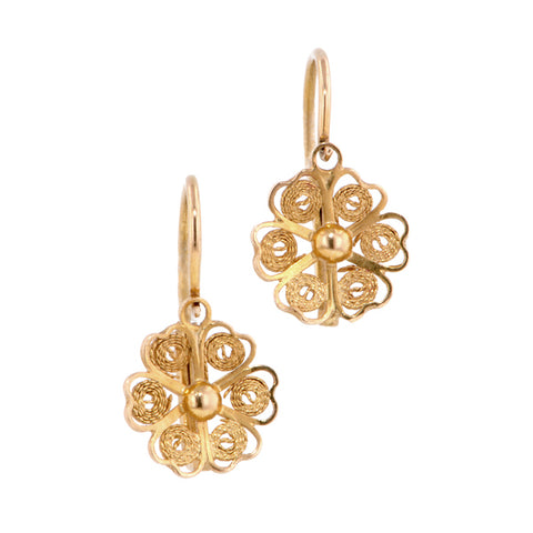 Vintage Filigree Dormeuse Earrings:: Doyle & Doyle