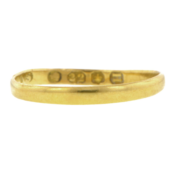 Victorian Gold Wedding Band::