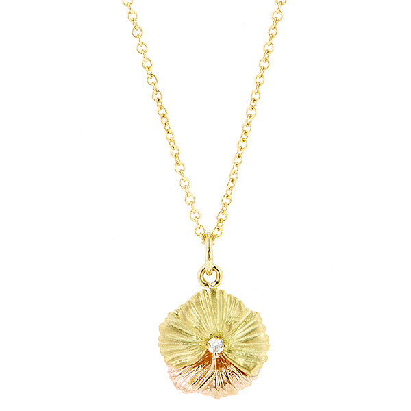 Diamond Pansy Necklace- Heirloom by Doyle & Doyle
