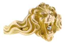 Art Nouveau Diamond Set Lion Ring:: Doyle & Doyle